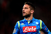 Napoli's Dries Mertens looks on<br /> <br /> Photographer Richard Martin-Roberts/CameraSport<br /> <br /> UEFA Champions League Group C - Liverpool v Napoli - Tuesday 11th December 2018 - Anfield - Liverpool<br />  <br /> World Copyright © 2018 CameraSport. All rights reserved. 43 Linden Ave. Countesthorpe. Leicester. England. LE8 5PG - Tel: +44 (0) 116 277 4147 - admin@camerasport.com - www.camerasport.com