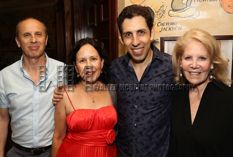 Vitaly Beckman with his parents and Daryl Roth attend the Off-Broadway Opening Night After Call for 'Vitaly: An Evening of Wonders' at The Palm Restaurant on June 20, 2018 in New York City.