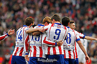 Players Atletico de Madrid celebrating goal of Mandzukic