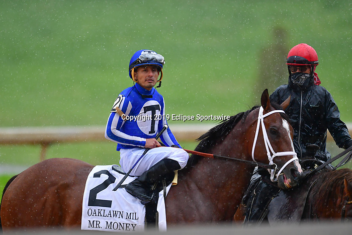April 11, 2020:  Mr. Money (2) with jockey Gabriel Saez aboard during the Oaklawn Mile Stakes at Oaklawn Racing Casino Resort in Hot Springs, Arkansas on April 11, 2020. Ted McClenning/Eclipse Sportswire/CSM Oaklawn Heritage race at Oaklawn Racing Casino Resort  on April 11, 2020 in Hot Springs, Arkansas. (Photo by Ted McClenning/Eclipse Sportswire/Cal Sport Media)