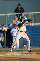 Estevan Florial (55) of the Pulaski Yankees at bat against the Danville Braves at American Legion Post 325 Field on August 1, 2016 in Danville, Virginia.  The Yankees defeated the Braves 4-1.  (Brian Westerholt/Four Seam Images)
