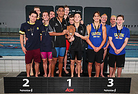Medal Ceremony. AON Swimming New Zealand National Open Swimming Championships, National Aquatic Centre, Auckland, New Zealand, Monday 2nd July 2018. Photo: Simon Watts/www.bwmedia.co.nz