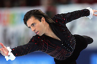 November 19, 2005; Paris, France; Figure skating star MICHAEL WEISS of USA skates to sixth place in mens figure skating at Trophee Eric Bompard, ISU Paris Grand Prix competition.  Weiss is one of the favorites to compete in mens at the Torino 2006 Olympics.<br />
