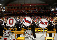 The Ohio State marching band plays while players exit Skull Session at St John Arena before the NCAA college football game between the Nebraska Cornhuskers and the Ohio State Buckeyes at Ohio Stadium on Saturday, Nov. 3, 2018. [Tyler Schank/Dispatch]
