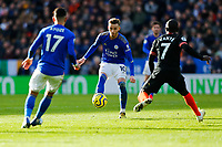 1st February 2020; King Power Stadium, Leicester, Midlands, England; English Premier League Football, Leicester City versus Chelsea; James Maddison of Leicester City passes to Ayoze Perez