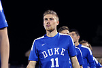 DURHAM, NC - NOVEMBER 25: Duke's Max Moser (AUT). The Duke University Blue Devils hosted the Fordham University Rams on November 25, 2017 at Koskinen Stadium in Durham, NC in an NCAA Division I Men's Soccer Tournament Third Round game. Fordham advanced 8-7 on penalty kicks after the game ended in a 2-2 tie after overtime.