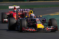 March 15, 2015: Daniel Ricciardo (AUS) #3 from the Infiniti Red Bull Racing team rounds turn 2 during the 2015 Australian Formula One Grand Prix at Albert Park, Melbourne, Australia. Photo Sydney Low
