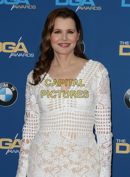 06 February 2016 - Los Angeles, California - Geena Davis. 68th Annual DGA Awards 2016 - Arrivals held at the Hyatt Regency Century Plaza. Photo Credit: AdMedia
