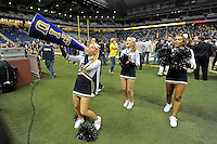 26 December 2010:  FIU's cheerleaders keep the crowd fired up in the fourth quarter as the FIU Golden Panthers defeated the University of Toledo Rockets, 34-32, to win the 2010 Little Caesars Pizza Bowl at Ford Field in Detroit, Michigan.