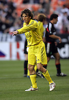 7 May 2005.  Columbus' Frankie Hejduk (2) organizes the defense versus DC United at RFK Stadium in Washington, DC.