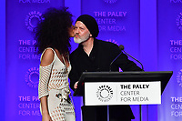 "HOLLYWOOD, CA - MARCH 23: Ryan Murphy and Indya Moore at PaleyFest 2019 for FX's ""Pose"" panel at the Dolby Theatre on March 23, 2019 in Hollywood, California. (Photo by Vince Bucci/FX/PictureGroup)"