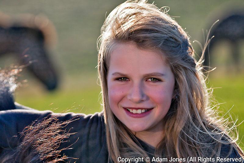 Young Icelandic girl, Iceland