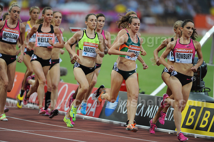 The Womens 3000m race at the Sainsbury Anniversary Games, Olympic Stadium, London England, Friday 26th July 2013-Copyright owned by Jeff Thomas Photography-www.jaypics.photoshelter.com-07837 386244. No pictures must be copied or downloaded without the authorisation of the copyright owner.