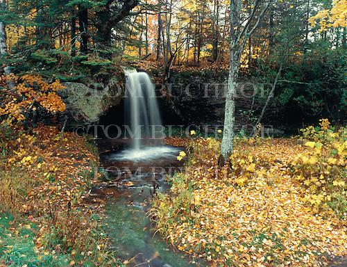 Scott Falls in Alger county in Michigan's Upper Peninsula during fall color.