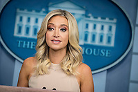 Kayleigh McEnany, White House press secretary, speaks during a news conference in the James S. Brady Press Briefing Room at the White House in Washington, D.C., U.S. on Tuesday, June 30, 2020. McEnany spoke about the New York Times story on Russian military intelligence. <br /> Credit: Sarah Silbiger / Pool via CNP / MediaPunch