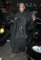 NEW YORK, NY - NOVEMBER 14: Andre Leon Talley seen at NBC's Today Show studios in New York City. November 14, 2012. Credit: RW/MediaPunch Inc. /NortePhoto
