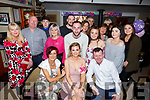 Nicola Carey from Tralee, seated front centre, celebrating her 30th birthday with family and friends in the Brogue Inn on Saturday night. Seated l-r, Bridget O'Reilly, Nicola Carey and John O'Reilly.