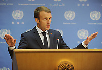 SEP 19 French President Macron Addresses UN