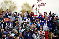 US fans during the friday fourballs at the Ryder Cup, Le Golf National, Iles-de-France, France. 27/09/2018.<br /> Picture Fran Caffrey / Golffile.ie<br /> <br /> All photo usage must carry mandatory copyright credit (© Golffile | Fran Caffrey)
