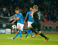 Jorginho  during the Champions League Group  soccer match between SSC Napoli - Manchester City   at the Stadio San Paolo in Naples 01 nov 2017