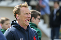 Peter Richarrds (Head Coach) of London Scottish looks on ahead of the Greene King IPA Championship match between London Scottish Football Club and Nottingham Rugby at Richmond Athletic Ground, Richmond, United Kingdom on 15 April 2017. Photo by David Horn.