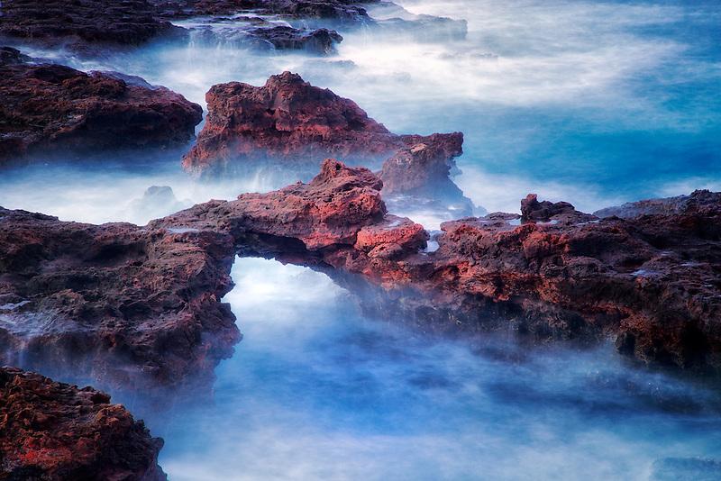 Arch on lanai coast. Hawaii