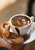 Churros and chocolate at La Pallaresa, in Barcelona, Spain. Photo by Kevin J. Miyazaki/Redux