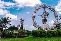 Bali, Gianyar. Some of the many large statues in this area. Close to the center of Gianyar city.