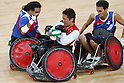 Shinichi Shimakawa (JPN),<br /> SEPTEMBER 15, 2016 - WheelChair Rugby : <br /> Preliminary Round Group B<br /> match Japan 57-52 France<br /> at Carioca Arena 1 during the Rio 2016 Paralympic Games in Rio de Janeiro, Brazil.<br /> (Photo by Shingo Ito/AFLO)