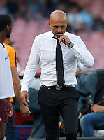 Calcio, Serie A: Napoli vs Roma. Napoli, stadio San Paolo, 15 ottobre. <br /> Roma&rsquo;s coach Luciano Spalletti during the Italian Serie A football match between Napoli and Roma at Naples' San Paolo stadium, 15 October 2016. Roma won 3-1.<br /> UPDATE IMAGES PRESS/Isabella Bonotto