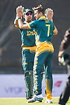 Players of South Africa celebrate during Day 1 of Hong Kong Cricket World Sixes 2017 Group A match between Hong Kong vs South Africa at Kowloon Cricket Club on 28 October 2017, in Hong Kong, China. Photo by Yu Chun Christopher Wong / Power Sport Images