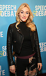 Betsy Wolfe attends Broadway Red Carpet Premiere of 'Speech & Debate'  at the American Airlines Theatre on April 2, 2017 in New York City.