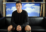 Nationalspieler Mesut OEZIL (DFB) sitzt in der Kulisse zum Interview.<br /> Fussball / Deutsche Fussball Nationalmannschaft: In der Stuttgarter Mercedes-Benz Arena fanden Werbeaufnahmen und ein Werbedreh  fuer den  DFB- Generalsponsor Mercedes-Benz im Hinblick auf die Fussball-Weltmeisterschaft 2010 in Suedafrika statt. Stuttgart, 25.01.2010 --<br /> Football/ Soccer: During the preparation for the Football Worldcup 2010 in Southafrica a advertising spot was shot in the Mercedes-Benz-Arena in Stuttgart with the German National Team. Stuttgart, January 25th 2010.<br /> Foto: nph ( nordphoto )