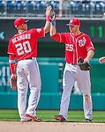 21 June 2015: Washington Nationals first baseman Clint Robinson celebrates a win against the Pittsburgh Pirates at Nationals Park in Washington, DC. The Nationals defeated the Pirates 9-2 to sweep their 3-game weekend series, and improve their record to 37-33. Mandatory Credit: Ed Wolfstein Photo *** RAW (NEF) Image File Available ***