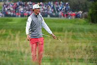 HaoTong Li (CHN) reacts to his chip on 17 during round 4 of the 2019 US Open, Pebble Beach Golf Links, Monterrey, California, USA. 6/16/2019.<br /> Picture: Golffile | Ken Murray<br /> <br /> All photo usage must carry mandatory copyright credit (© Golffile | Ken Murray)