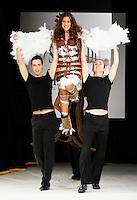 Judith <br /> Parigi 29/10/2013 Salone del Ciccolato <br /> Sfilata celebrities con vestiti di cioccolato <br /> Foto Le Goff Panoramic / Insidefoto