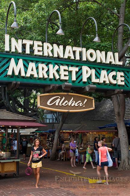 International Market Place, Downtown Waikiki, Honolulu, Oahu, Hawaii