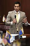 Nevada Sen. Ruben Kihuen, D-Las Vegas, speaks on the Senate floor at the Legislative Building in Carson City, Nev., on Friday, May 22, 2015. <br /> Photo by Cathleen Allison