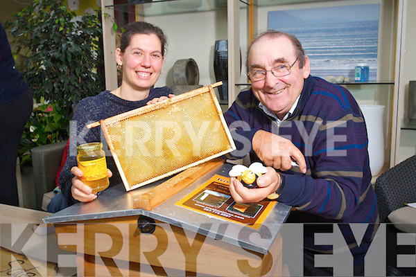 Pictures at the information talk on Beekeeping ar Ballyseede Garden Centre on Saturday were Marie Charland (Ballydavid) and Pat Curran (Killorglin) Beekeepers.