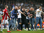 Tottenham's Eric Dier gets mobbed by fans at the final whistle during the Premier League match at White Hart Lane Stadium, London. Picture date: May 14th, 2017. Pic credit should read: David Klein/Sportimage