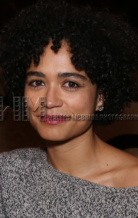 Lauren Ridloff promotes Broadway's revival of 'Children of a Lesser God' at Studio 54 on January 17, 2018 in New York City.
