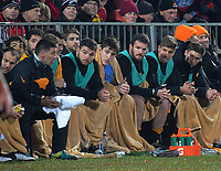 The Jaguares bench during the 2019 Super Rugby final between the Crusaders and Jaguares at Orangetheory Stadium in Christchurch, New Zealand on Saturday, 6 July 2019. Photo: Dave Lintott / lintottphoto.co.nz