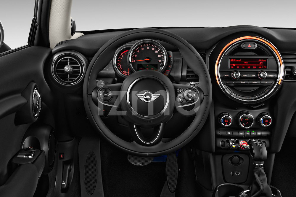 Steering wheel view of a 2014 MINI Cooper Hardtop 3 Door Hatchback