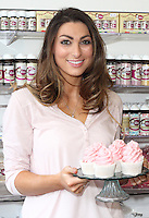 Luisa Zissman at her 'Dixies Cupcakery' shop in St Albans. The shop is due to close at the end of the month, moving to new premises in the city. St Albans, Herts, England on March 29th 2014<br />