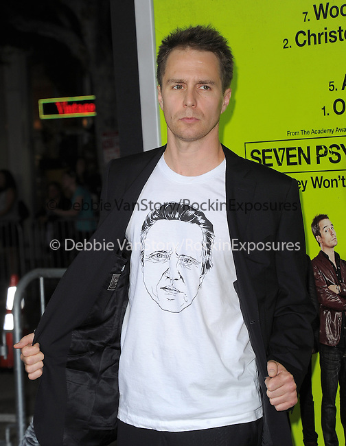 Sam Rockwell at The CBS Films L.A. Premiere of Seven Psychopaths Premiere held at The Bruin Theatre in Westwood, California on October 01,2012                                                                               © 2012 Hollywood Press Agency