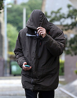 Police officer Jeremy Fowler arrives at Swansea Crown Court for an earlier hearing (Friday 08 July 2016). He is accused of sexual assault.