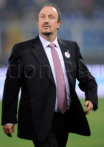 29 10 2010   Series A Season 2010 2011 CFC Genoa versus  Inter Milan. Milan 29 10 2010 team manager Rafael Benitez Inter Milan  team manager Rafael Benitez Inter Milan