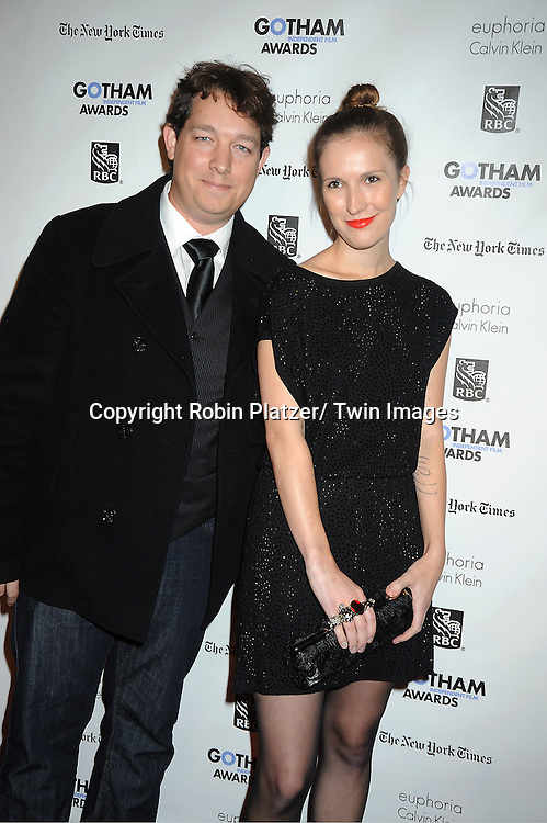 Shaun O'Banion and Kristina Anderson attends IFP'S 21st Annual Gotham Independent Film Awards on November 28, 2011 at Cipriani Wall Street in New York City.