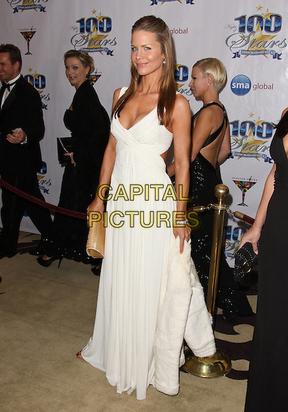JOSIE DAVIS.Night of 100 Stars - Arrivals held at the Beverly Hills Hotel, Beverly Hills, California, USA..March 7th, 2010.full length white maxi dress .CAP/ADM/TC.©T. Conrad/AdMedia/Capital Pictures.