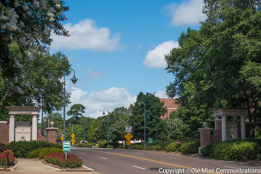 East Gates.  Photo by Kevin Bain/Ole Miss Communications